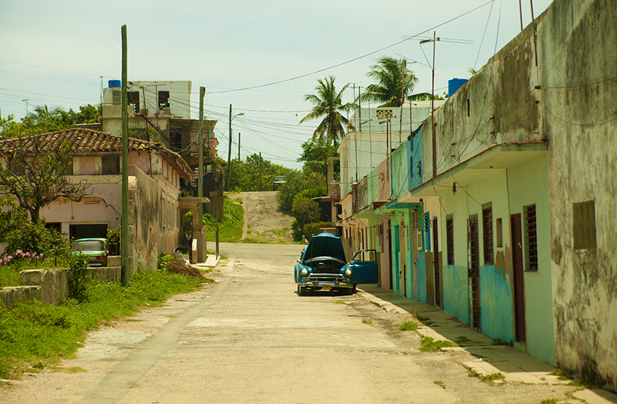 City College students saw an impoverished region of Havana on June 12.