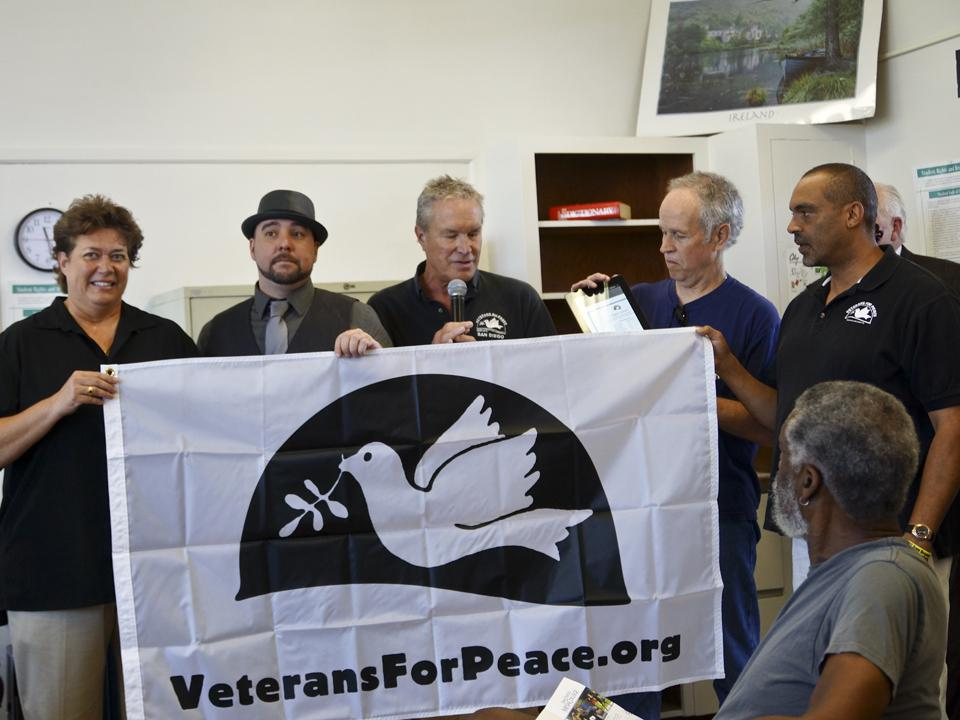 City's Veterans for Peace first college chapter in the nation