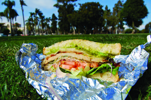 A turkey, bacon, avocado sandwiches from the Market Place.