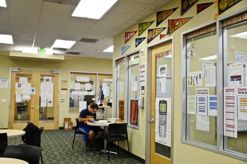 Student Bryan Vader studies at the Math, Engineering Science Achievement building, a location with records of successful graduating students.  Troy Orem, City Times
