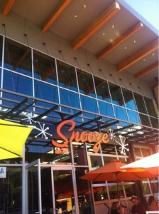Front entrance of Snooze in Hillcrest. Michelle Moran, City Times