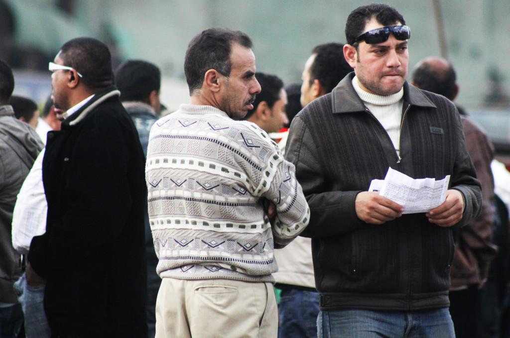 An+Egyptian+man+grows+noticeably+tense+in+Tahrir+Square+at+the+anniversary+of+the+uprising+on+January+25%2C+2012.+by+J.+Rae+Chipera%2C+City+Times.