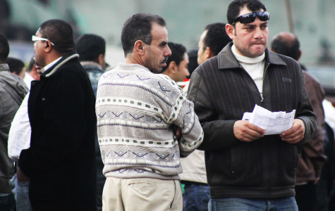 An Egyptian man grows noticeably tense in Tahrir Square at the anniversary of the uprising on January 25, 2012. by J. Rae Chipera, City Times.