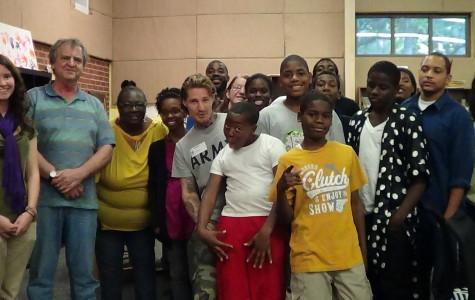 Petrone volunteering at an after school program in East Atlanta, Georgia. Courtesy photo.