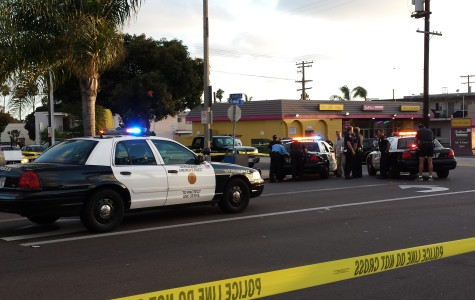 Police shut down a Pacific Beach intersection after a shooting on Saturday evening.