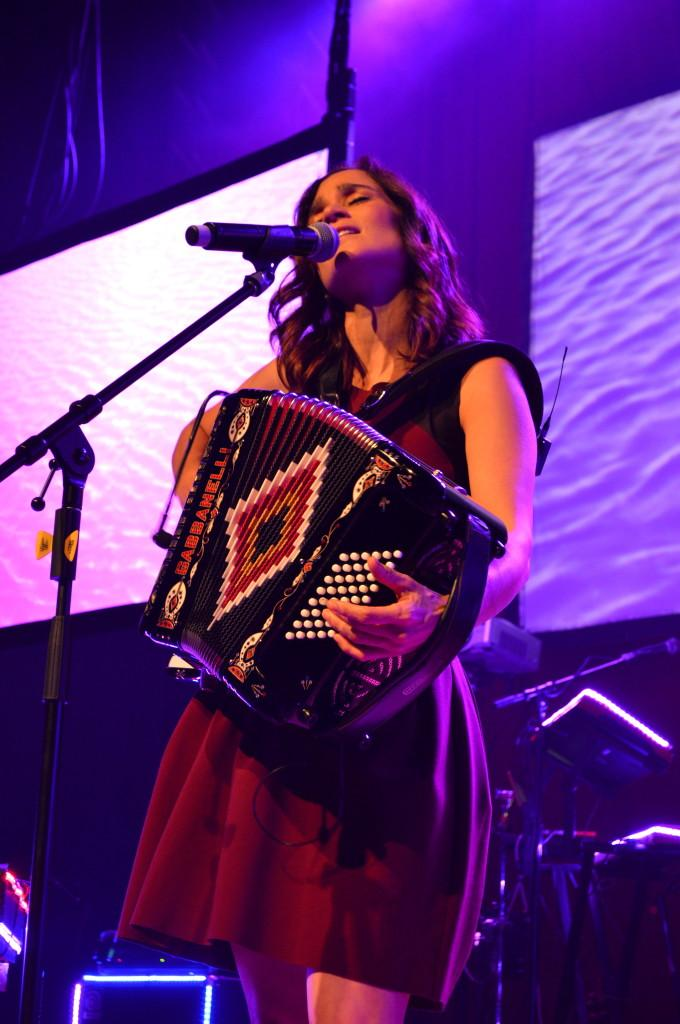 Julieta Venegas performing at the House of Blues in San Diego on Sept. 19. Issa Lozano, City Times.