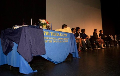 Phi Theta Kappa held its annual induction ceremony on Oct 4. in the Saville Theatre. Over 60 students were present and inducted into the honors society. Official Facebook image.