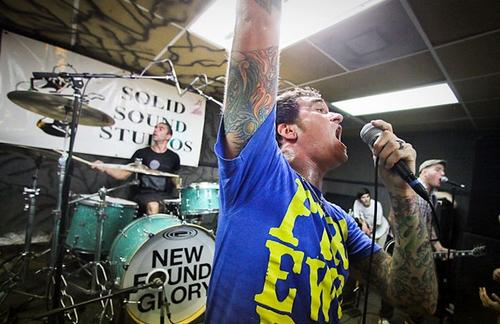 New Found Glory performing onstage at Solid Sound Studios. Photo courtesy of Last.FM.