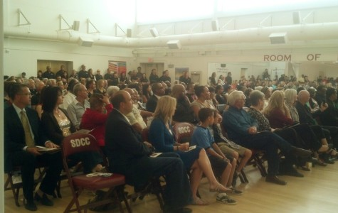 Approximately 250 people attended the memorial service held for Coach Jim Colbert on Oct. 6.