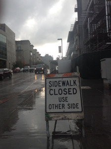 Construction of new buildings at San Diego City College has caused the closure of surrounding sidewalks, making it challenging and at times unsafe for students to find their way around campus.Photo credit: Ahmad Blue.