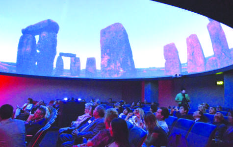 Guests attended a private screening for the opening of the planetarium in the Science building on Feb. 19.Photo credit: Michelle Moran