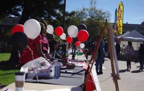 Clubs set up tables with balloons and banners to match the theme of the day on Jan. 28.