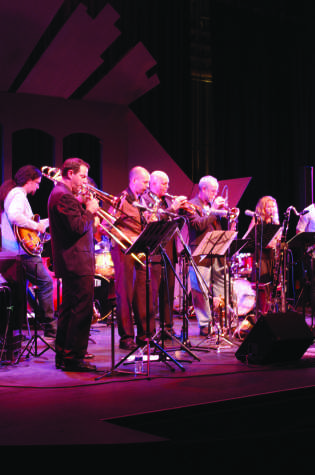 On March 11, Joe Garrison and Night People performed in the Saville Theatre. Photo credit: Joe Kendall