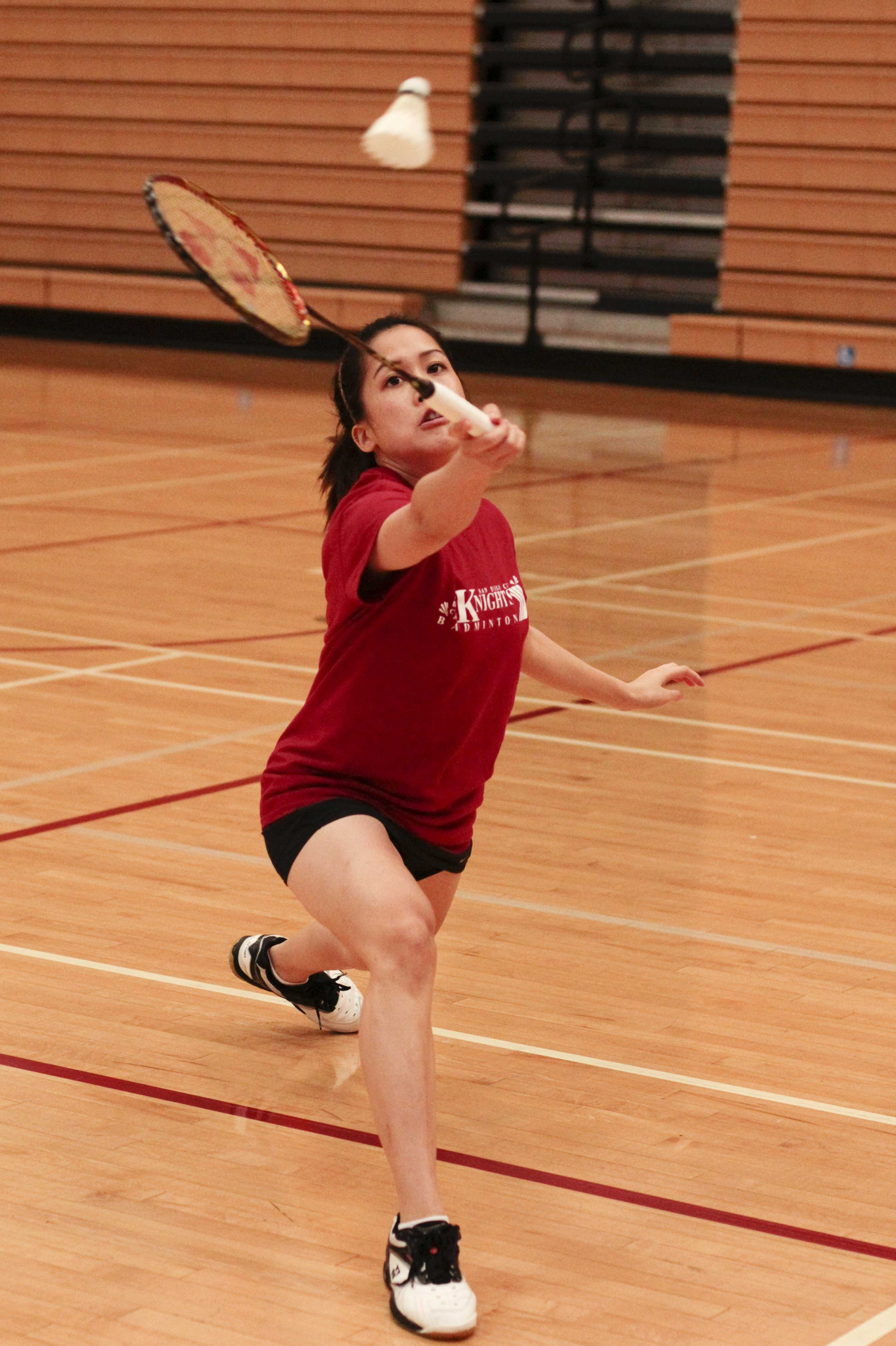 Sophomore star Darby Duprat is helping the Knights women's badminton team try to regain the state championship title they last won in 2012. Photo credit: Celia Jimenez