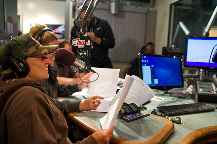 The voice actors prepare themselves, doing multiple readings to fine tune the voices they will use for the show. Photo credit: Troy Orem