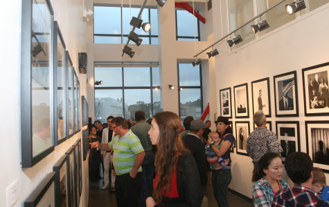 Guests enjoyed the portfolios of City students, including Edward Honaker's works titled