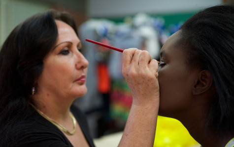 With wardrobes selected for performers, cosmetology students prep the cast for the final dress rehearsal of