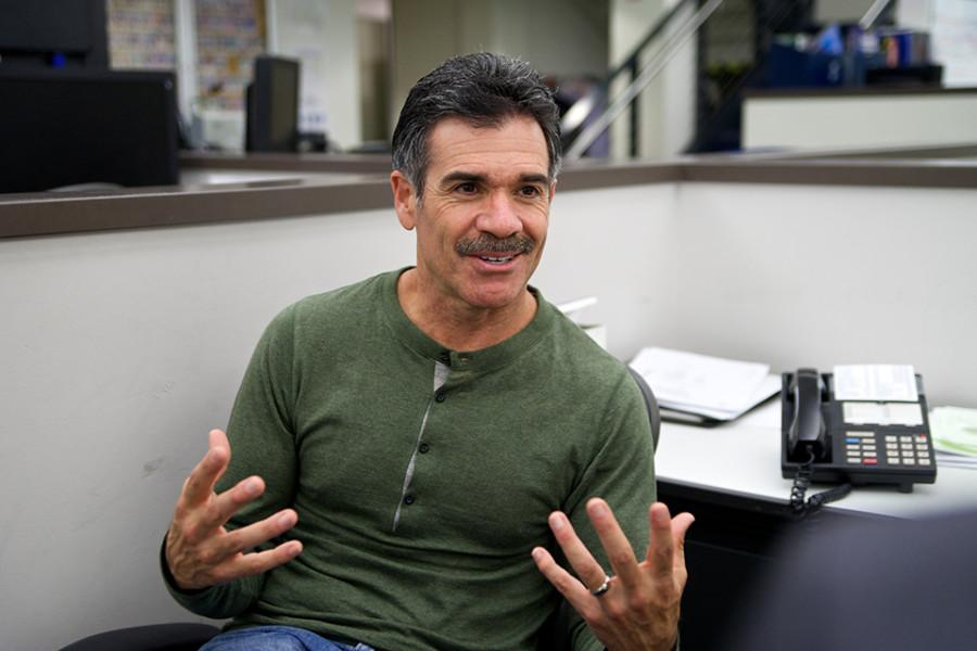 Artie Ojeda at NBC 7 after his newscast. Photo credit: Troy Orem