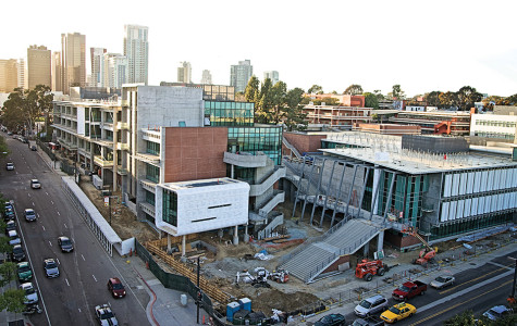 Construction continues as the Arts and Humanities and Business Technology building are prepared for the fall 2014 opening. Photo credit: Troy Orem