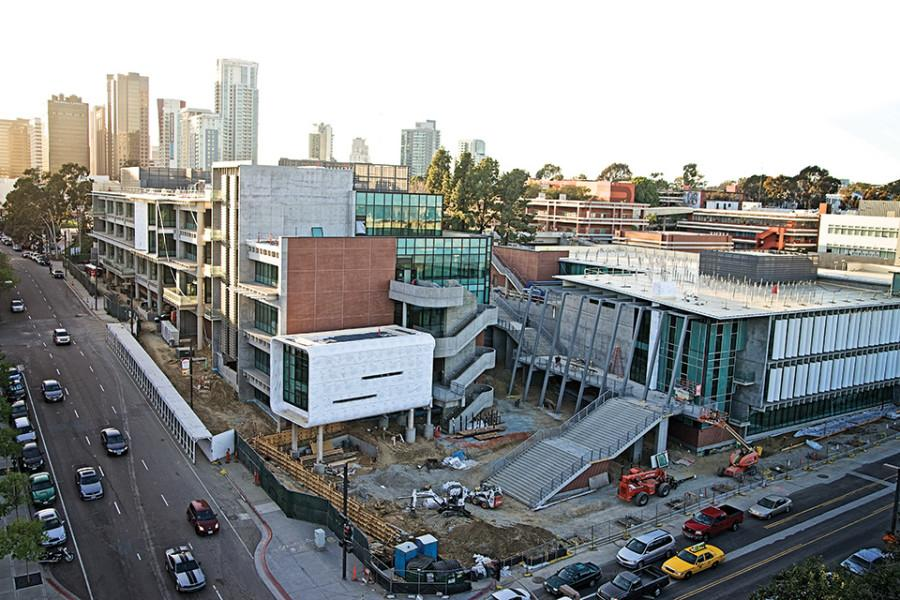 Construction+continues+as+the+Arts+and+Humanities+and+Business+Technology+building+are+prepared+for+the+fall+2014+opening.+Photo+credit%3A+Troy+Orem