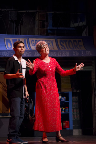"Drama department students perform in a dress rehearsal of the spring 2014 musical ""In the Heights."" Photo credit: Troy Orem"