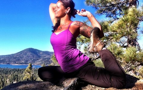 Chopra Center instructor Kali Love practicing yoga in Big Bear Lake, Calif. (Facebook)