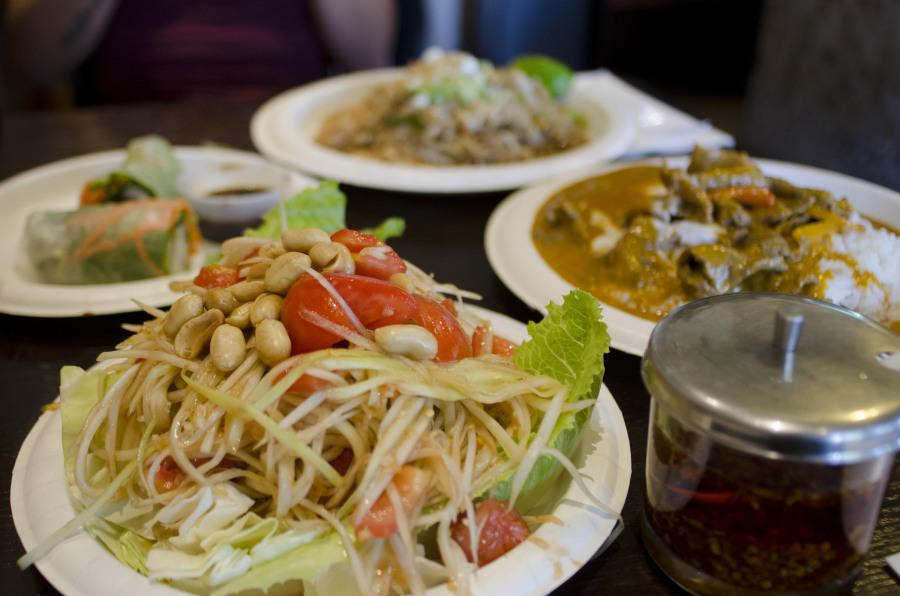 Bahn+Thai+serves+a+wide+variety+of+Thai+cuisine+including+shredded+papaya+salad+tossed+in+fish+sauce%2C+chili+peppers%2C+lime+juice+and+tomatoes.+Photo+credit%3A+Richard+Lomibao