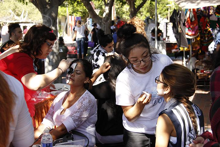 Carnival+goers+had+the+chance+to+get+their+face+painted+by+members+of+the+Cosmetology+department+at+the+ASG+sponsored+Halloween+carnival+Oct.+30+Photo+credit%3A+Celia+Jimenez