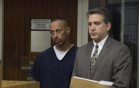 Armando Perez (left), a man charged with the murder of his estranged wife, City College student Diana Gonzalez, appeared before a judge on Aug. 27 for a bail hearing. (City Times archives.)