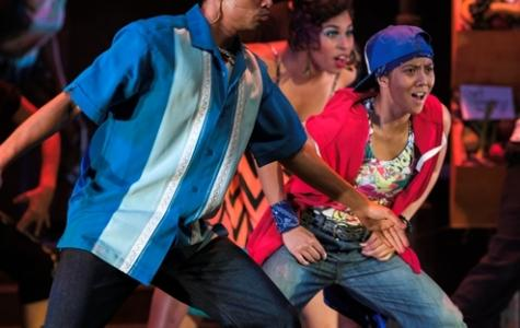 "Christine Bernadette Ondevilla (right) performing in the Spring 2014 musical ""In the Heights."" Legend Magazine file."
