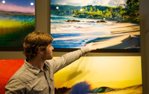 Located at the Headquarters at Seaport District, the Aaron Chang Ocean Art Gallery features a variety of fine art photographs from San Diego as well as examples from Chang's journeys to other countries. Gallery staff are attentive and friendly able to answer any questions you could come up with regarding the art on the walls. Photo credit: Troy Orem