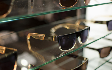 9Five offers several styles of eyewear designed by the brand's graphic designers. Photo credit: Richard Lomibao
