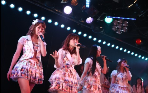 "AKB48's Team K during the final performance of the 2014 revival of their fourth stage show ""Saishuu Bell ga naru"" in the AKB48 Theatre in Akihabara, Tokyo on April 16. AKS, Courtesy photo."