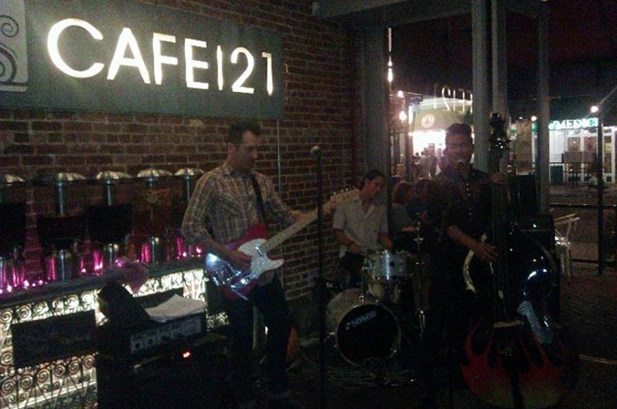 Even if you're under 21, you don't have to be at the bar to enjoy live music at Cafe 21 in San Diego (Photo by Steve Churchill)
