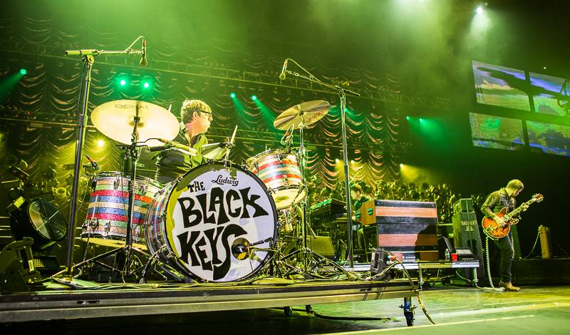 The Black Keys performing during a concert in Brooklyn, New York in Sept. 2014. Official Facebook image. Photo by Melinda Oswandel.