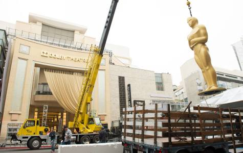 Construction outside of the Dolby Theatre in preparation for the 87th Annual Academy Awards.  Official Facebook image.