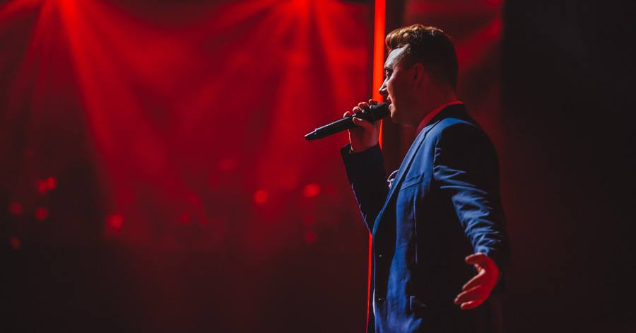 Multiple Grammy award nominee Sam Smith performs at a Dec. 2014 show. Official Facebook photo.