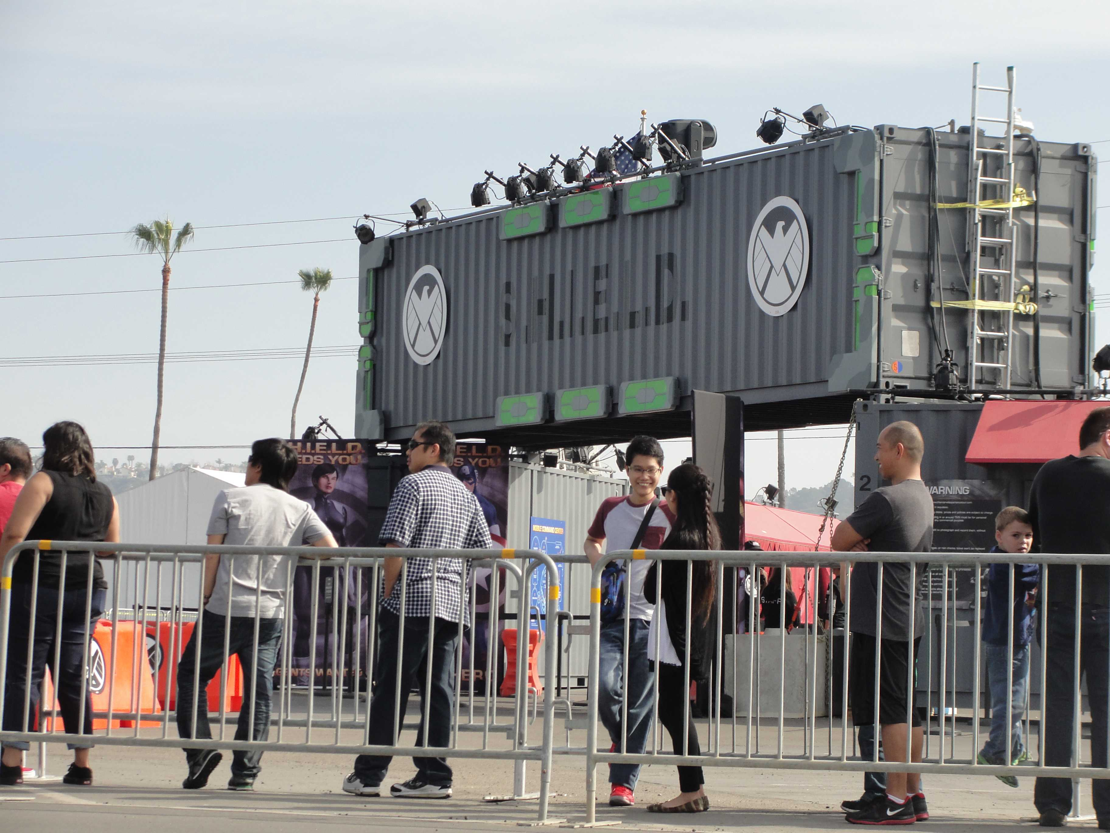Marvel fans eagerly await their entrance to the Marvel Experience at the Del Mar Fairgrounds. Photo credit: Antonio Marquez