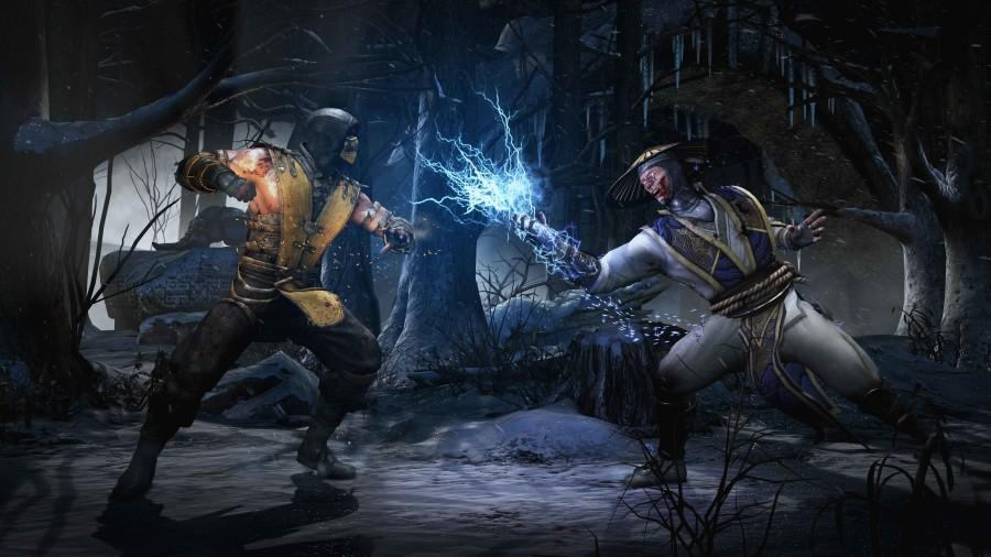 Raiden (right) gets ready to hit Scorpion with one of his signature moves, Lightning Hand. Netherrealm Studios, Official image
