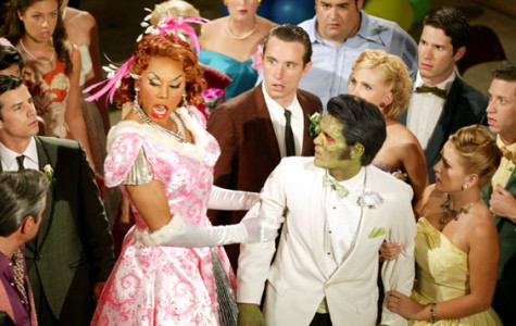 After its off-Boradway run, 'Zombie Prom' was made into a film in 2006 starring RuPaul, Darren Robertson and Candice Nicole. Photo from www.zombiepromthemovie.com