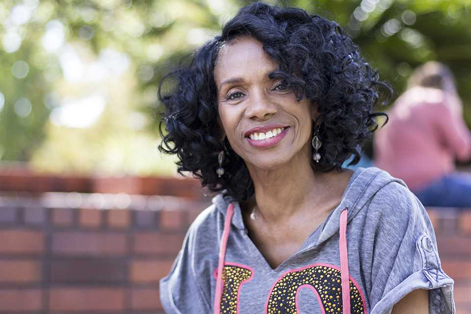 Longtime San Diego City College dance instructor Ruby Wilson sitting in Gorton Quad on Nov. 6. Photo credit: Celia Jimenez