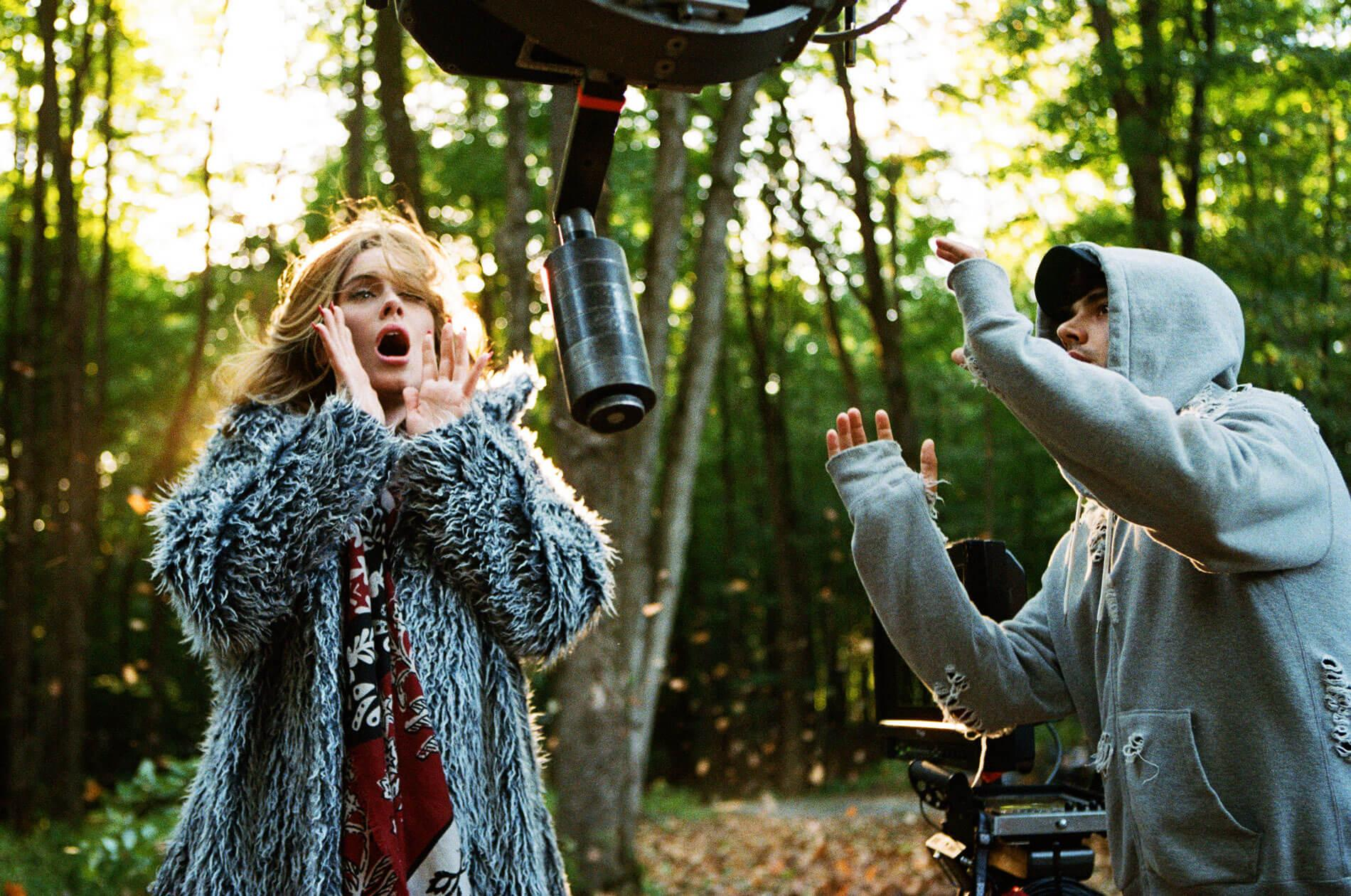 "Adele on the set of the music video for her lead single ""Hello"" in Quebec in September. Shayne Laverdiere, Adele official website"