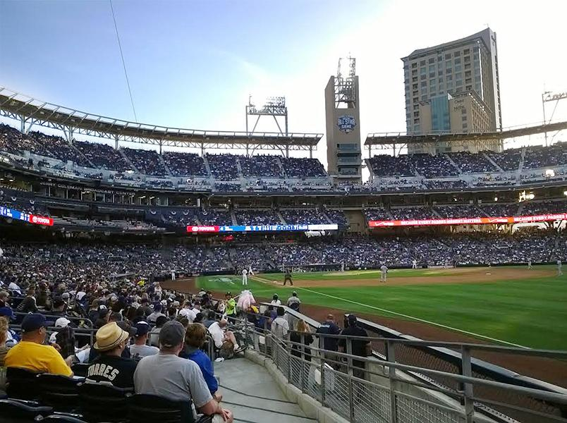 More than 40,000 people reunited at Petco Park to watch the Padres play against their rivals Los Angeles. Dodgers on April 4 .  Photo Credit : Ricardo Soltero