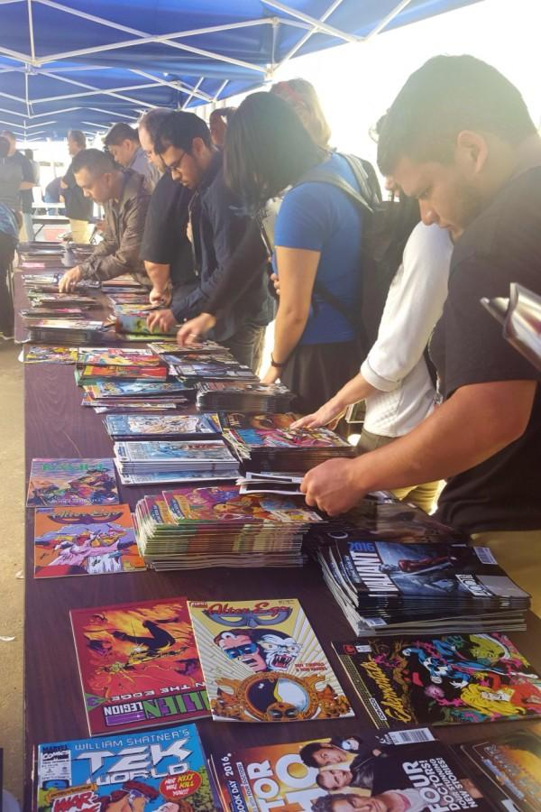 Rain did not stop fans from turning out for Free Comic Book Day at Southern California Comics in Kearney Mesa on May 7. Photo by Antonio Marquez