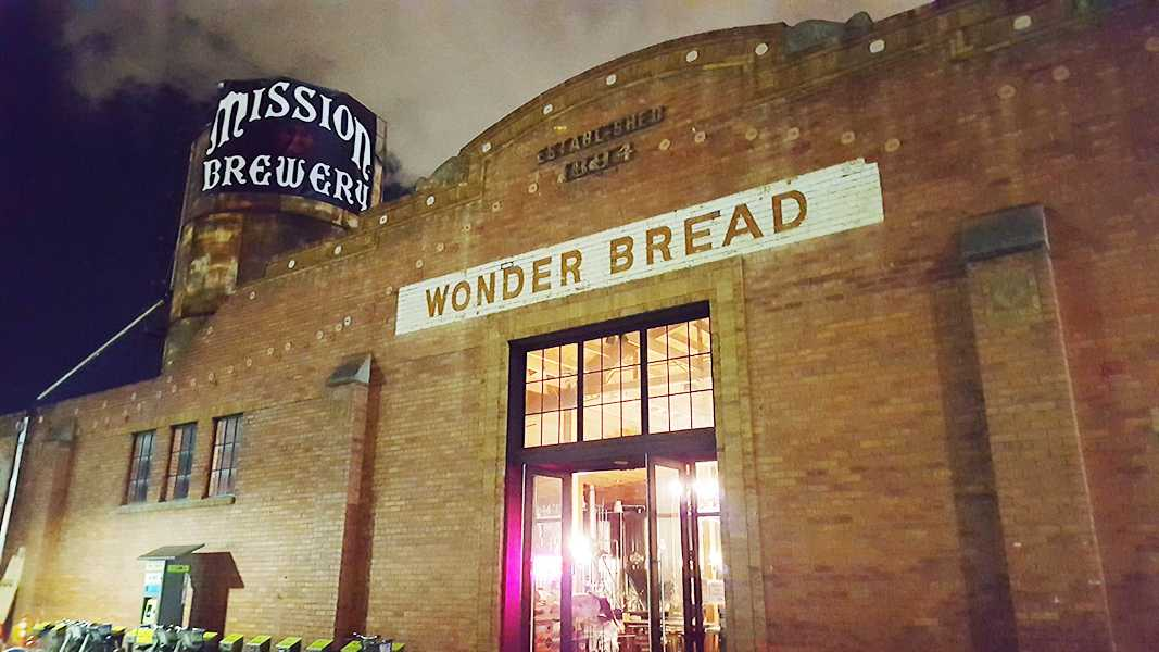 Mission Brewery has its manufacturing and tasting room at the historic Wonder Bread Building next to Petco Park. Photo Credit: Ricardo Soltero.