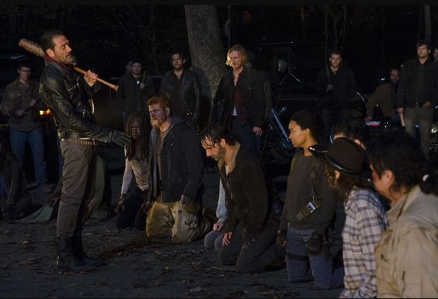 The+new+season+premiere+finds+the+%22Walking+Dead%22+characters+facing+life+and+death.+Photo+courtesy+of+AMC