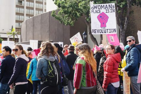 Groups of women, families and individuals turned out for the Women