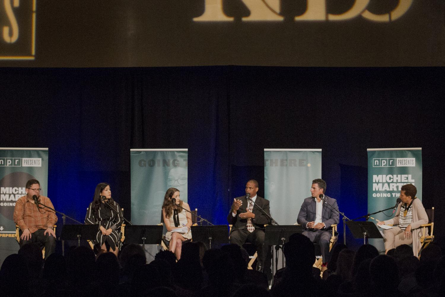 Experts talked about life in the border region, illegal immigration, the cross-border economy, among other topics, at a panel discussion hosted by NPR at the Jacobs Center for Neighborhood Innovation in San Diego on May 2.