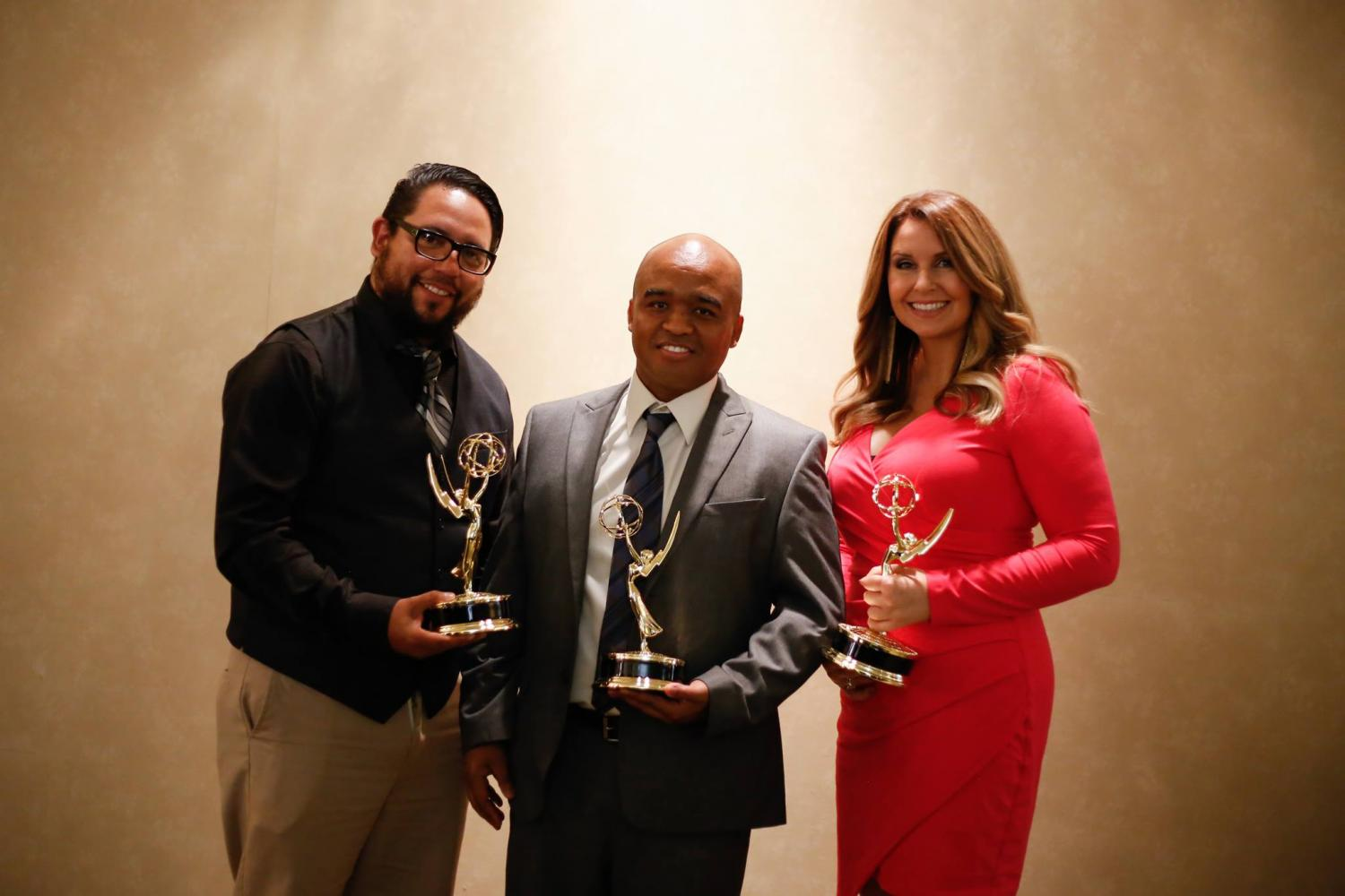 San Diego Union Tribune, EMMYS, Emmy Award, City College, City Times, Mike Madriaga, Alejandro Tamayo, David Brooks, Sharon Heilbrunn, Multimedia, UT, Award Ceremony, 2017, 2016, SDCCD, MMJ, Video, Chargers