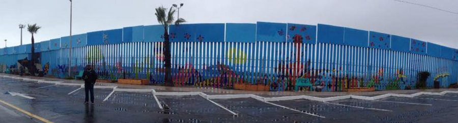Panoramic view of Mural de le Hermandad